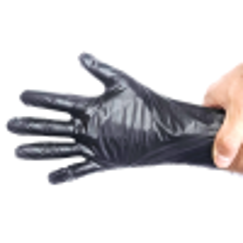 Floraplast Pudrasız Elastik Kutulu 100 Adet  L Boy Siyah Eldiven