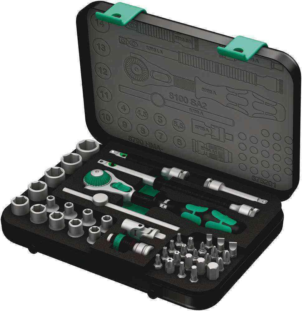 Wera 8100 SA 2 Zyklop Cırcır Bits ve Lokma Set 1/4 05003533001