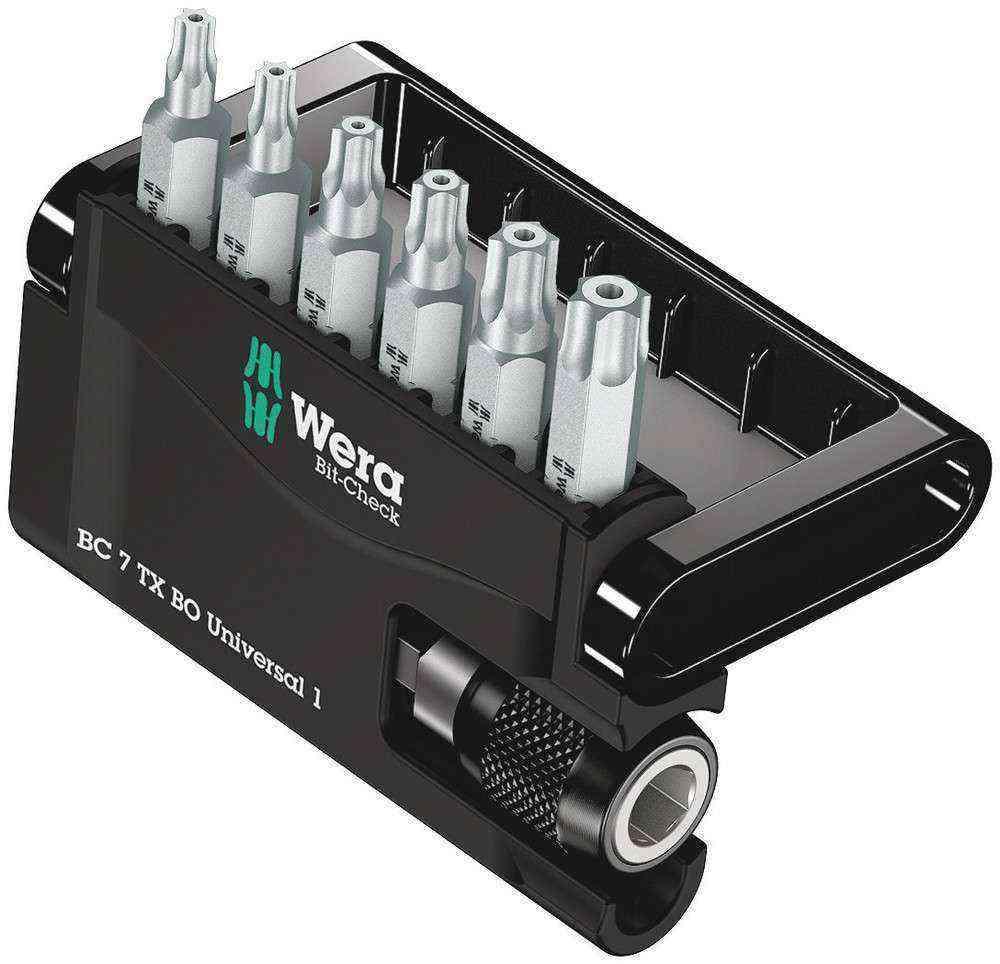 Wera Bit-Check 7 TX BO Universal Bits Set 1 05056158001