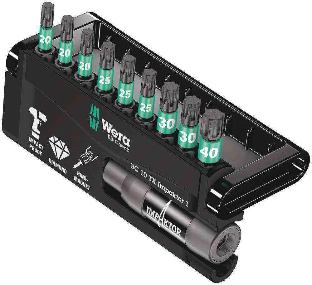 Wera Bit-Check 10 TX İmpaktor Bits Set 1 05057688001