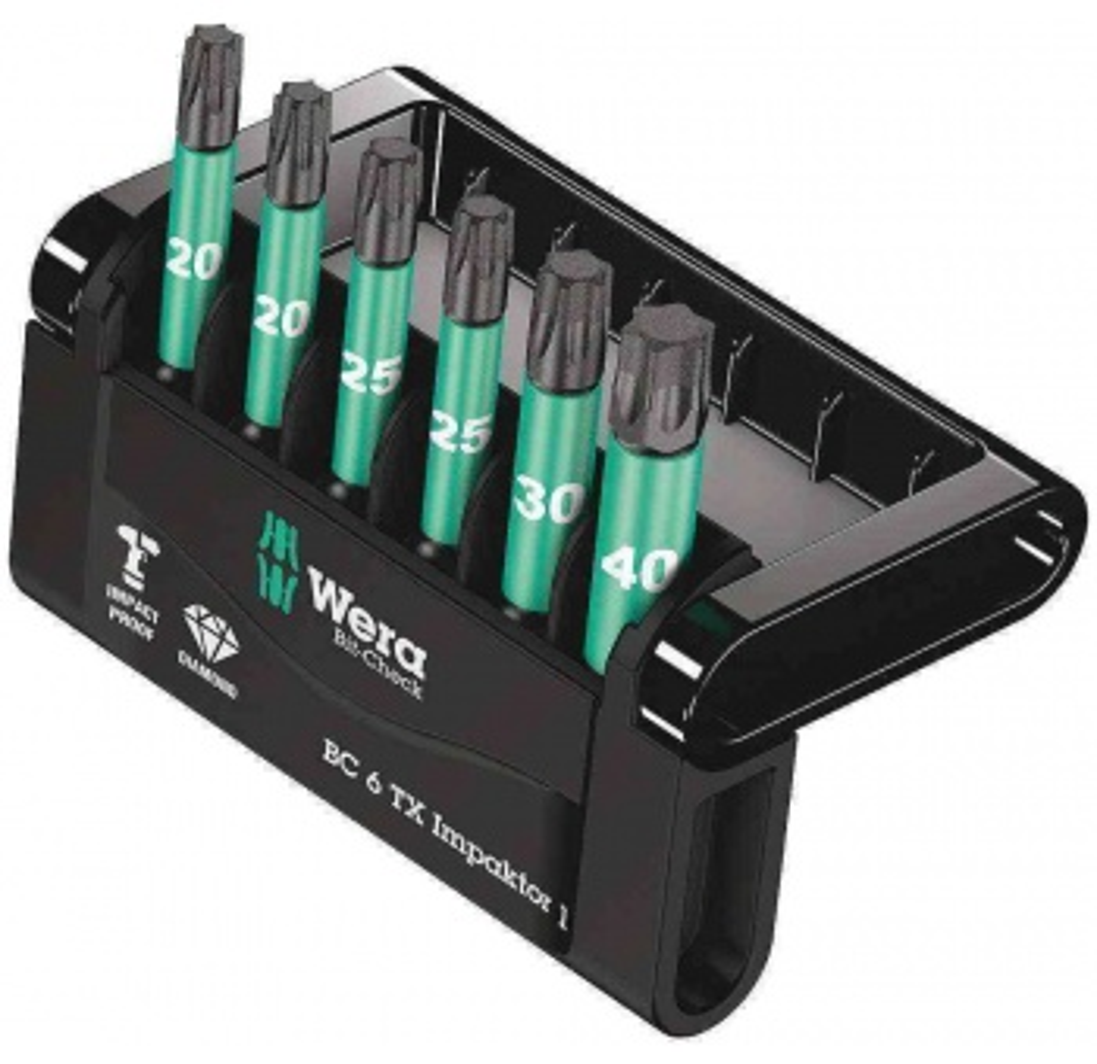 Wera Bit-Check 6 TX İmpaktor Bits Set 1 05057693001