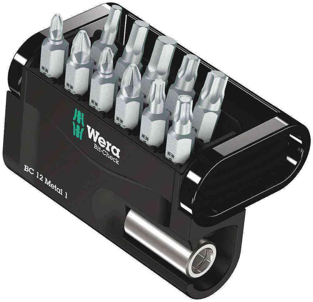 Wera Bit-Check 12 Metal Bits Set 1 05057424001