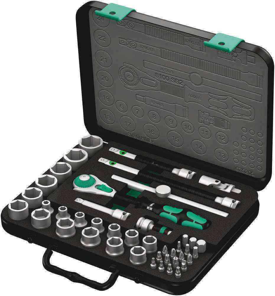 Wera 8100 SB 2 Cırcır Zyklop Karma Set 3/8 05003594001