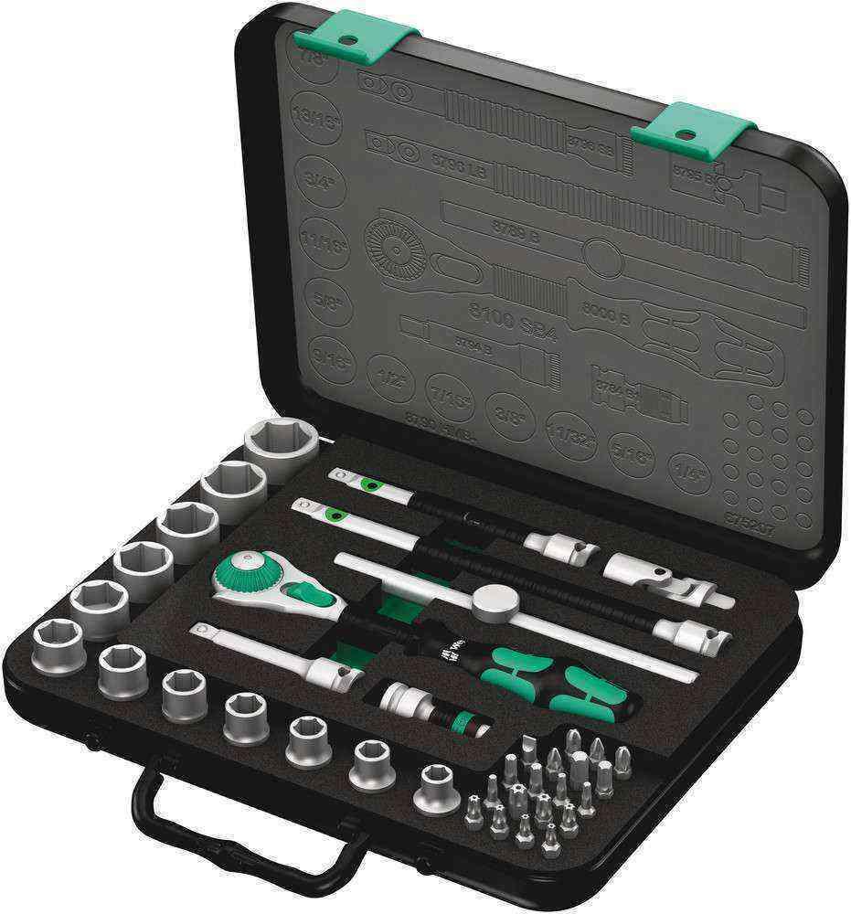 Wera 8100 SB 4 Cırcır Zyklop Karma Set 3/8 05003596001