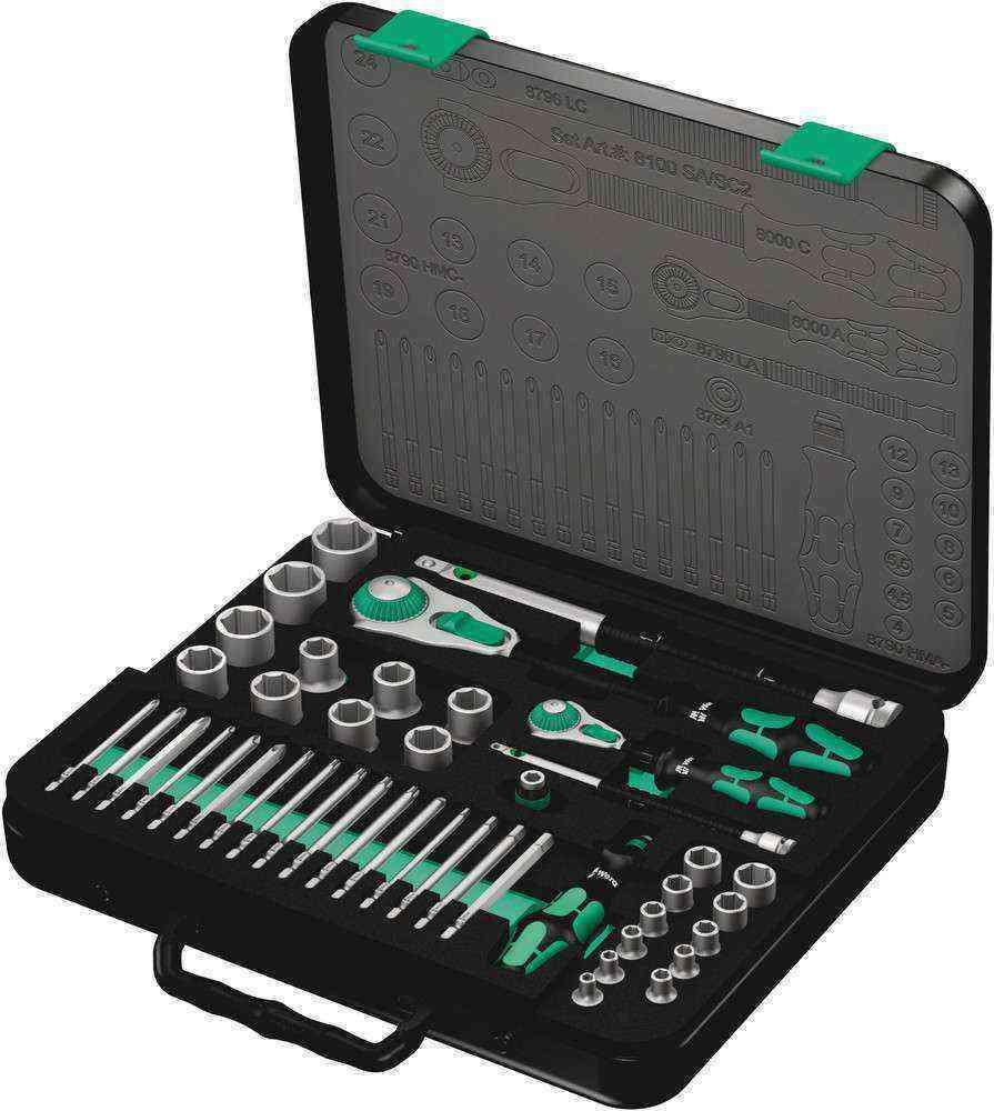 Wera 8100 SA/SC 2 Cırcır Zyklop 1/2-1/4 Lokma Bit Set 05160785001